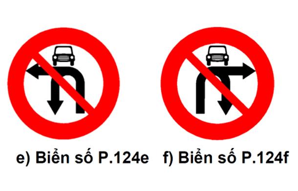Biển cấm ô tô rẽ trái / phải và quay đầu