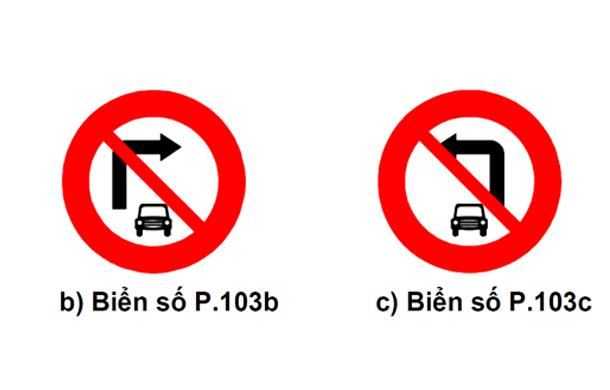 Biển cấm ô tô rẽ trái