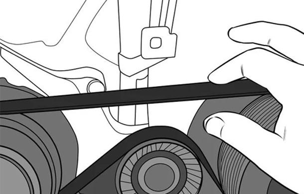 Kiểm tra độ căng dây đai máy nén