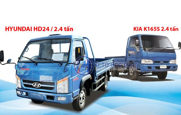 So sánh xe tải Hyundai HD24 với Kia K165S