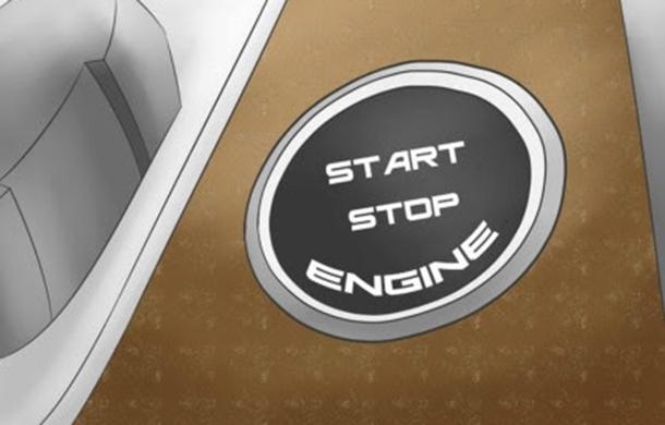 Xe sử dụng nút khởi động