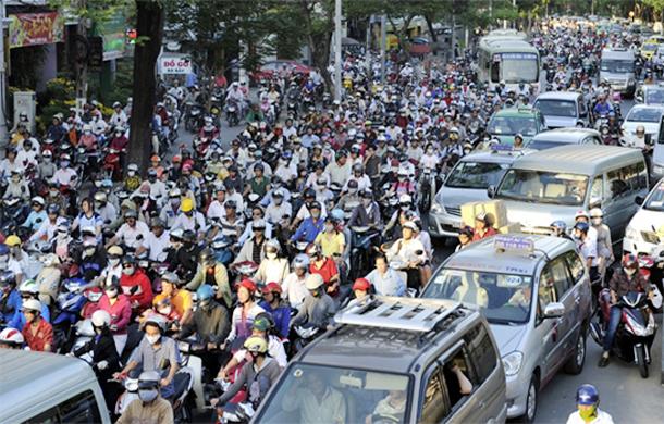 Cấm xe máy vào nội thành