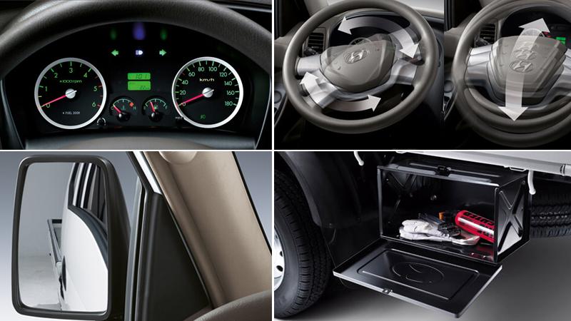 Tiện ích xe Hyundai H150