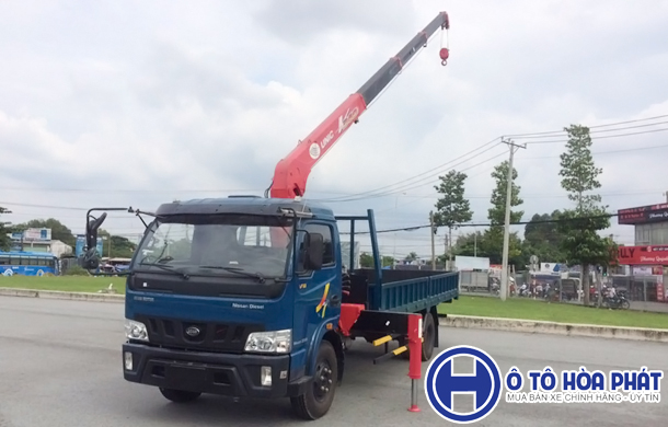 Xe tải Veam gắn cẩu unic 3t V340