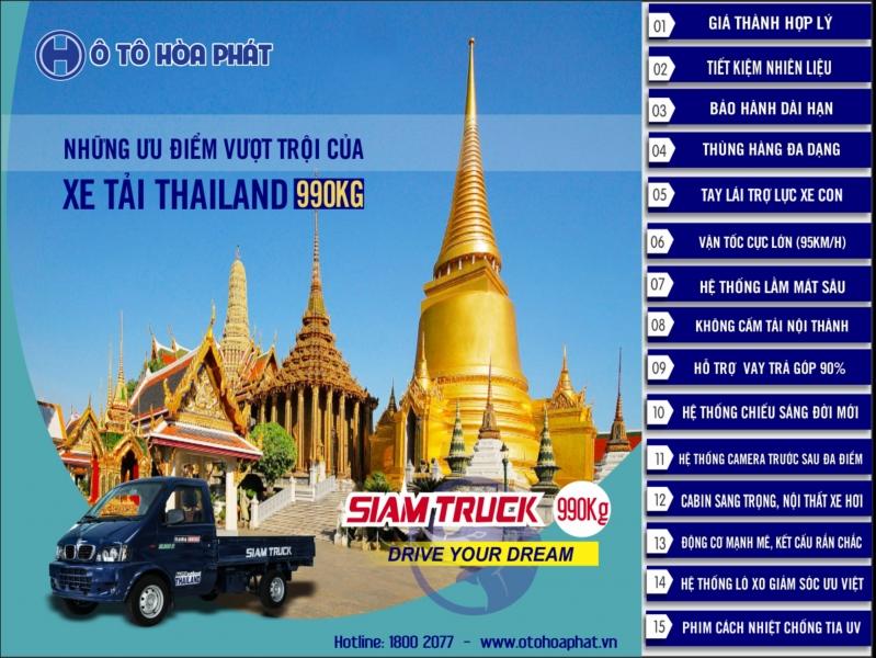 Xe tải Thái Lan 990kg giá rẻ Bình Dương
